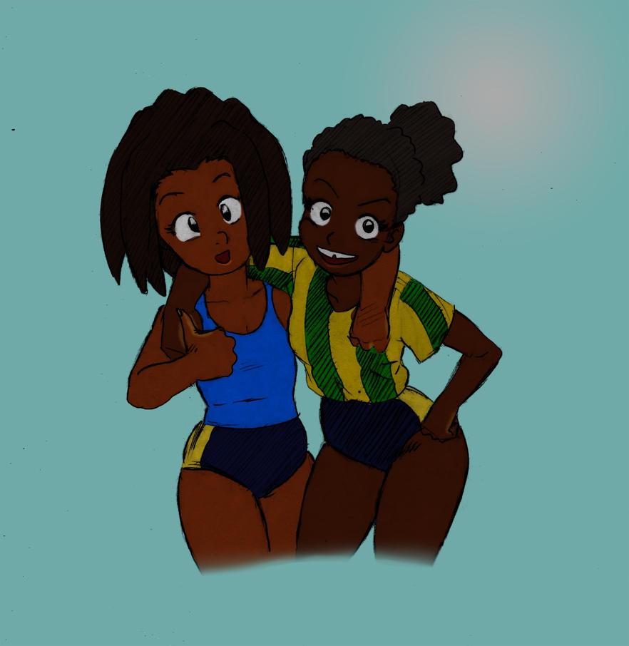 Maya and Sporty by Rasheedzee