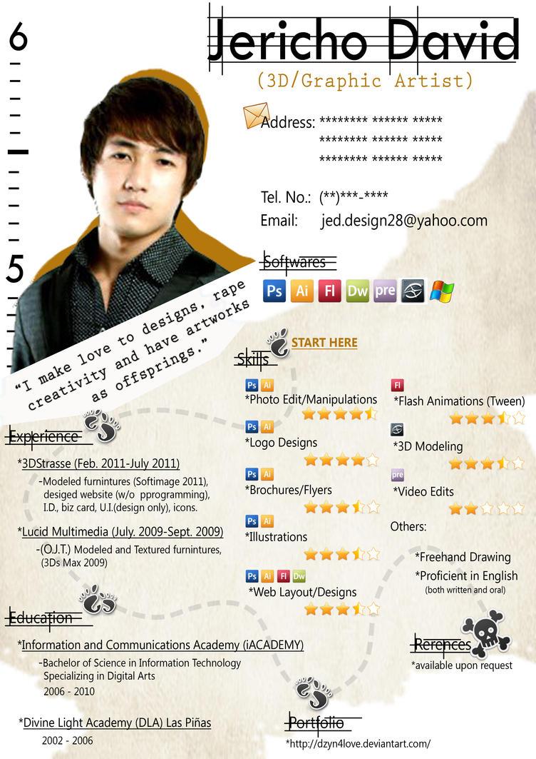 my resume 2011 by dzyn4love