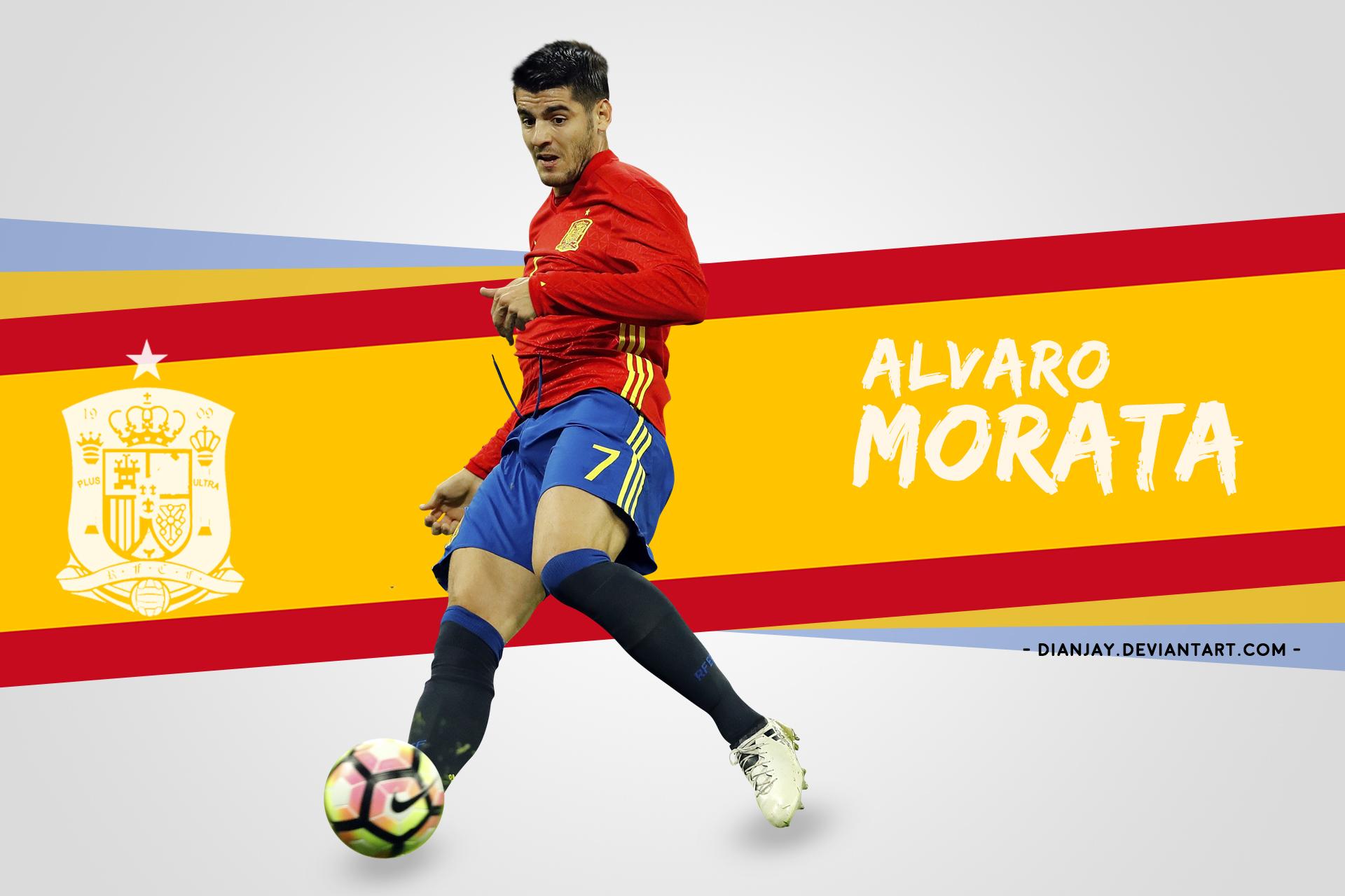 Alvaro Morata Wallpaper Desktop 2017/18 By Dianjay On