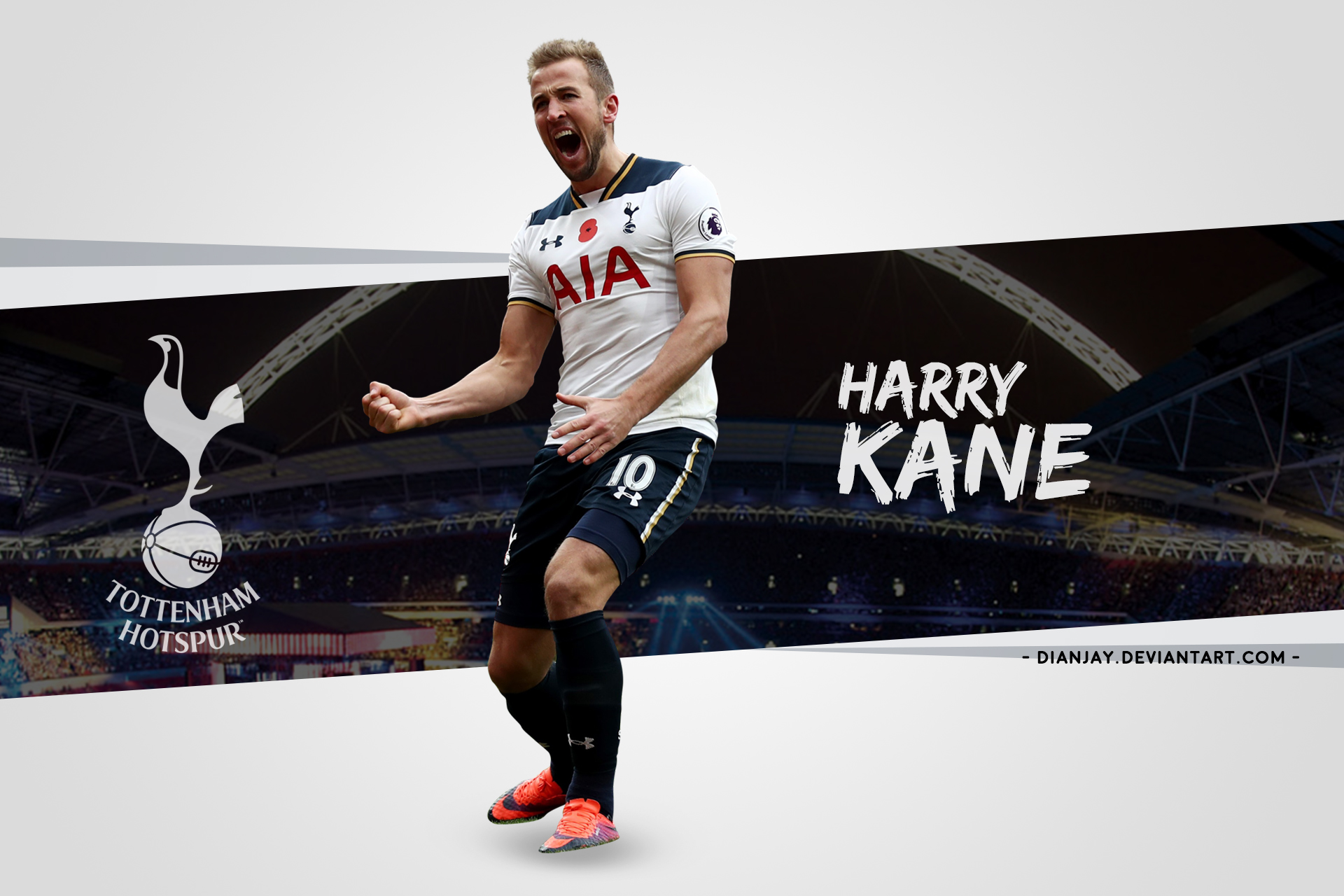 Harry Kane 2017/18 Wallpaper Desktop By Dianjay On DeviantArt