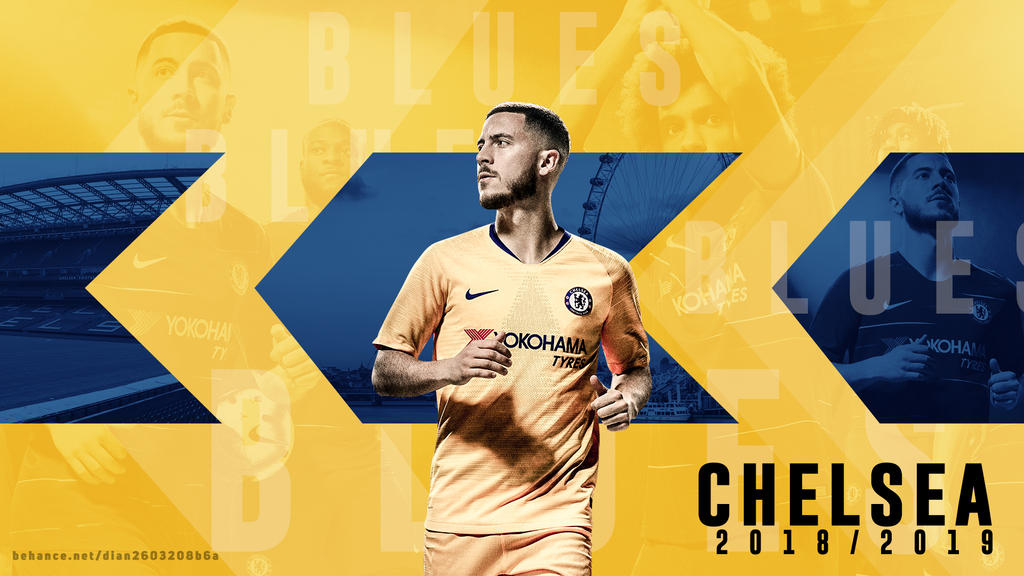 Eden Hazard with Chelsea New Kit Wallpaper by dianjay