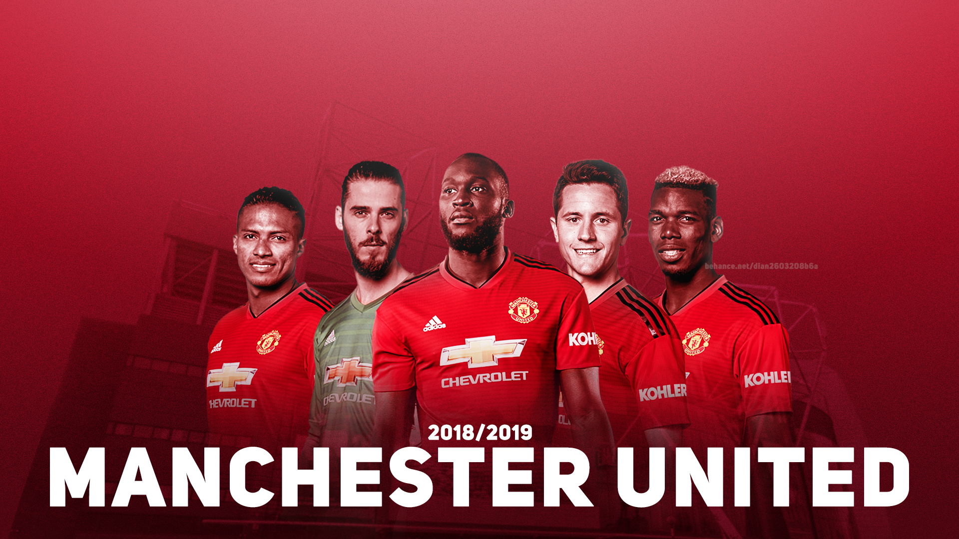 Wallpaper Picture Photo Manchester United Squad 20192020