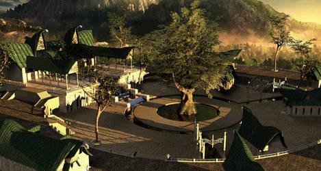 Elven Village by MoonRaccoon13
