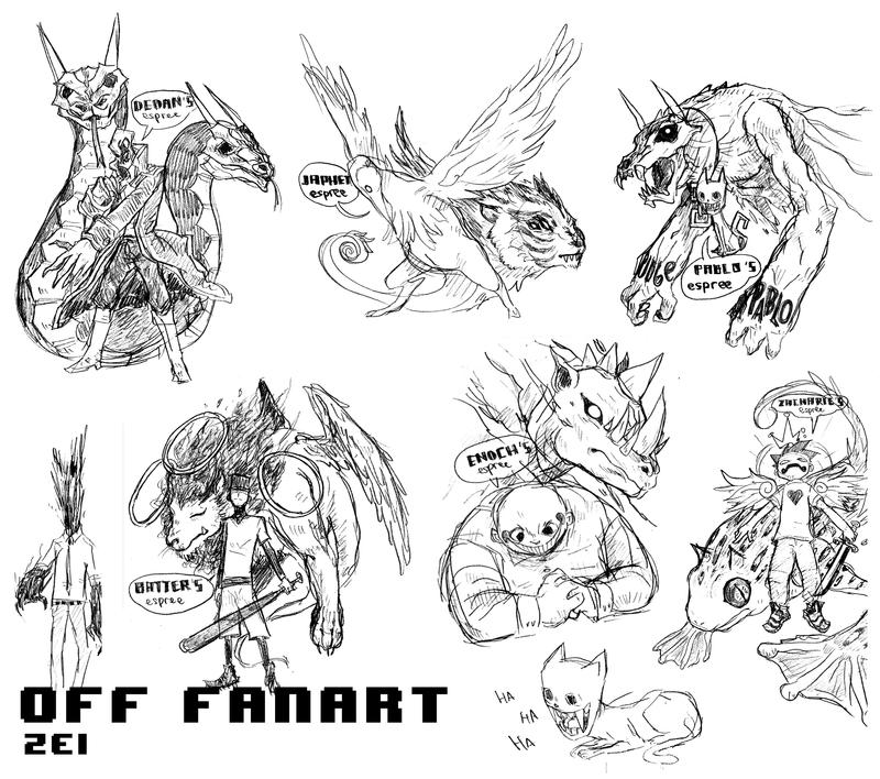 OFF fanart sketch by thirteenz