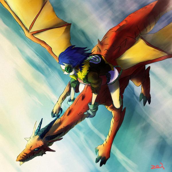 Dragon Rider by thirteenz