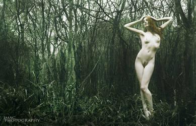 Ghost in the woods by JenaMAC