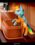 Rainbow Dash in Courtroom
