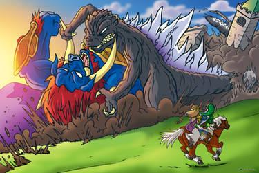 Godzilla VS Ganon by OUTCASTComix