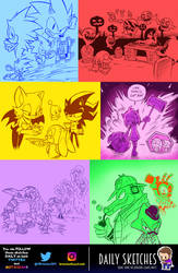 Daily Sketches: Sonic Week (Games Only) by OUTCASTComix
