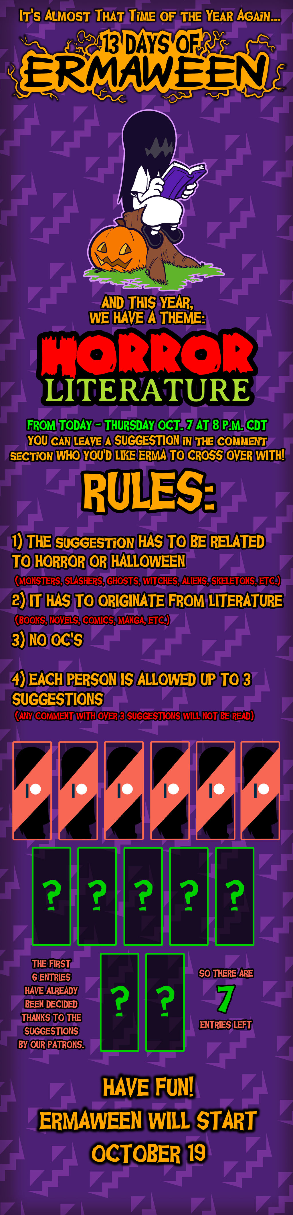 Ermaween 2021 Suggestion Poll (READ RULES PLEASE)