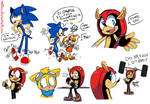 Sonic, Cream and Cheese, Ray, but mostly Mighty
