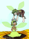 Sitting On A Sunflower by relyon