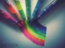 Rainbow markers