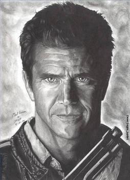 Mel Gibson portrait by RogueDerek