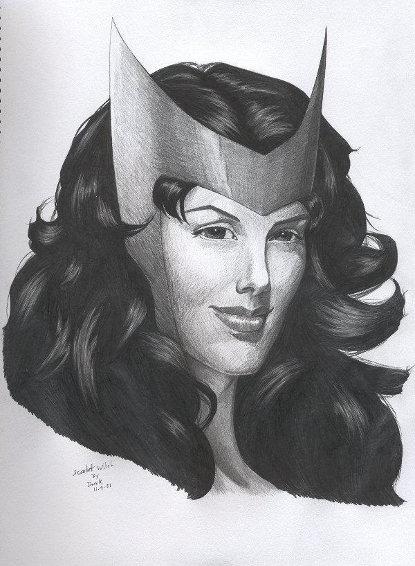 Scarlet Witch portrait by RogueDerek