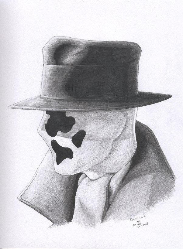 Rorschach portrait by RogueDerek