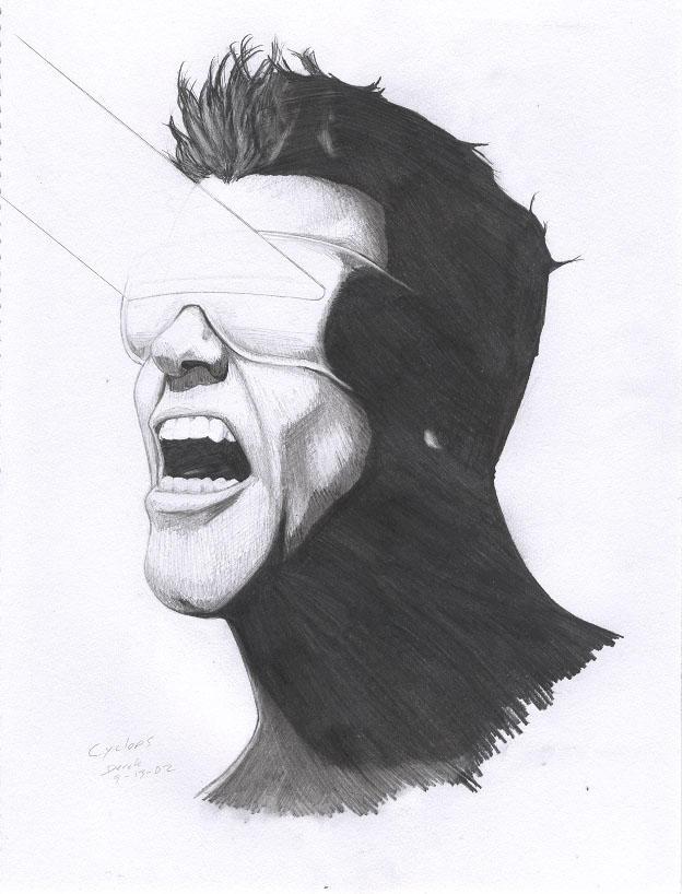 Cyclops portrait by RogueDerek