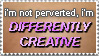 Stamp: Differently Creative by RogueDerek