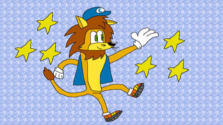 Copper the Lion Collecting Stars by SmashGamer16