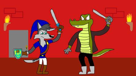 Calamity Meeting Great Gator by SmashGamer16