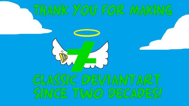 The Angel Classic DeviantArt Logo