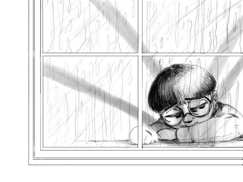 how to draw window glare