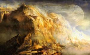 Golden Mountains of an Alien Earth