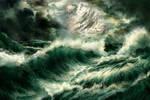 Stormy Seas of an Earth Like Moon by Valinakova