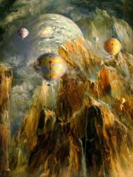 Ballooning Up the Cosmic Chasm by Vladinakova