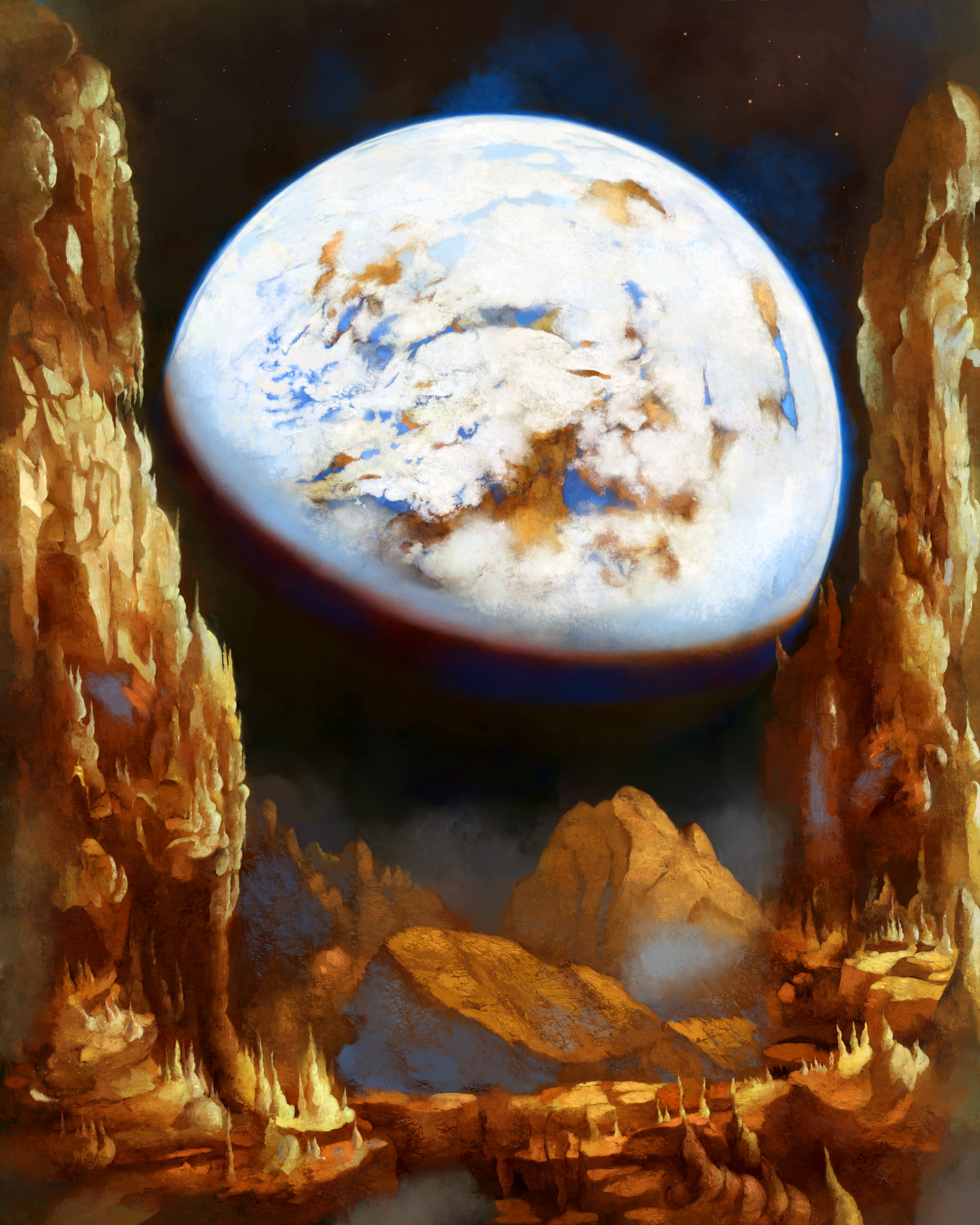 A City in Space, on a Moon the mass of Genemede...
