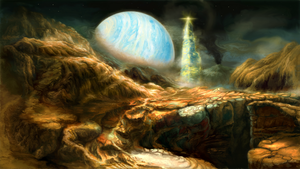 Commission: Colonization of an exo Moon.