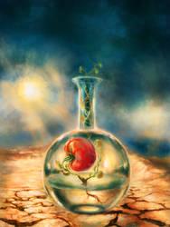 Test-tube Tomato Still-Life by Vladinakova