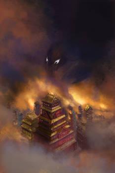 Book Cover Illustration - Darkness Decends