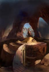 Card Game Illustration: Pile of Gold by Vladinakova