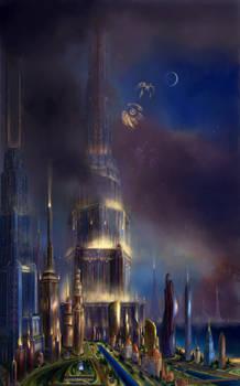 The futuristic city of Anti Death