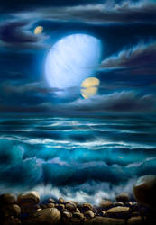 Space Seascape by Vladinakova