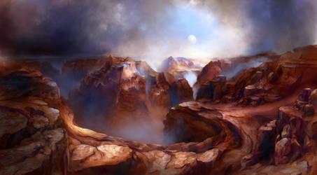 An Alien Grand Canyon by Vladinakova