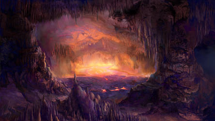 Dragon Lava Cave by Vladinakova