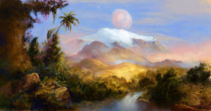 Mountain in the Jungle, Habitable exomoon