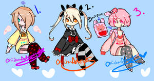 Adoptables Batch #28 ( CLOSED ) by OniichanAdopts