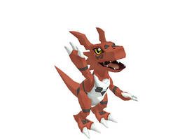 MMD Guilmon by ShadowYinYang