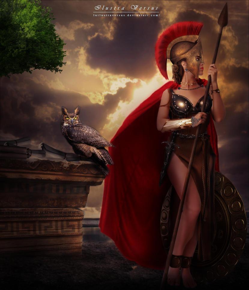 Atena by LuIlustraVersus
