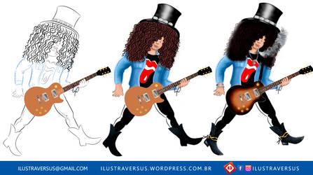 Slash - Guns n Roses 1990