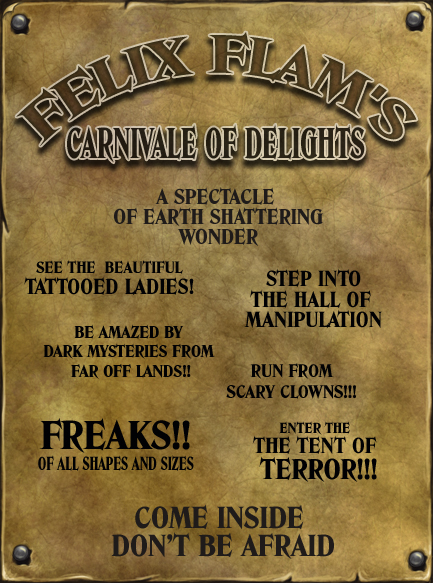 Felix Flam Carnivale Poster by Felix-Flam
