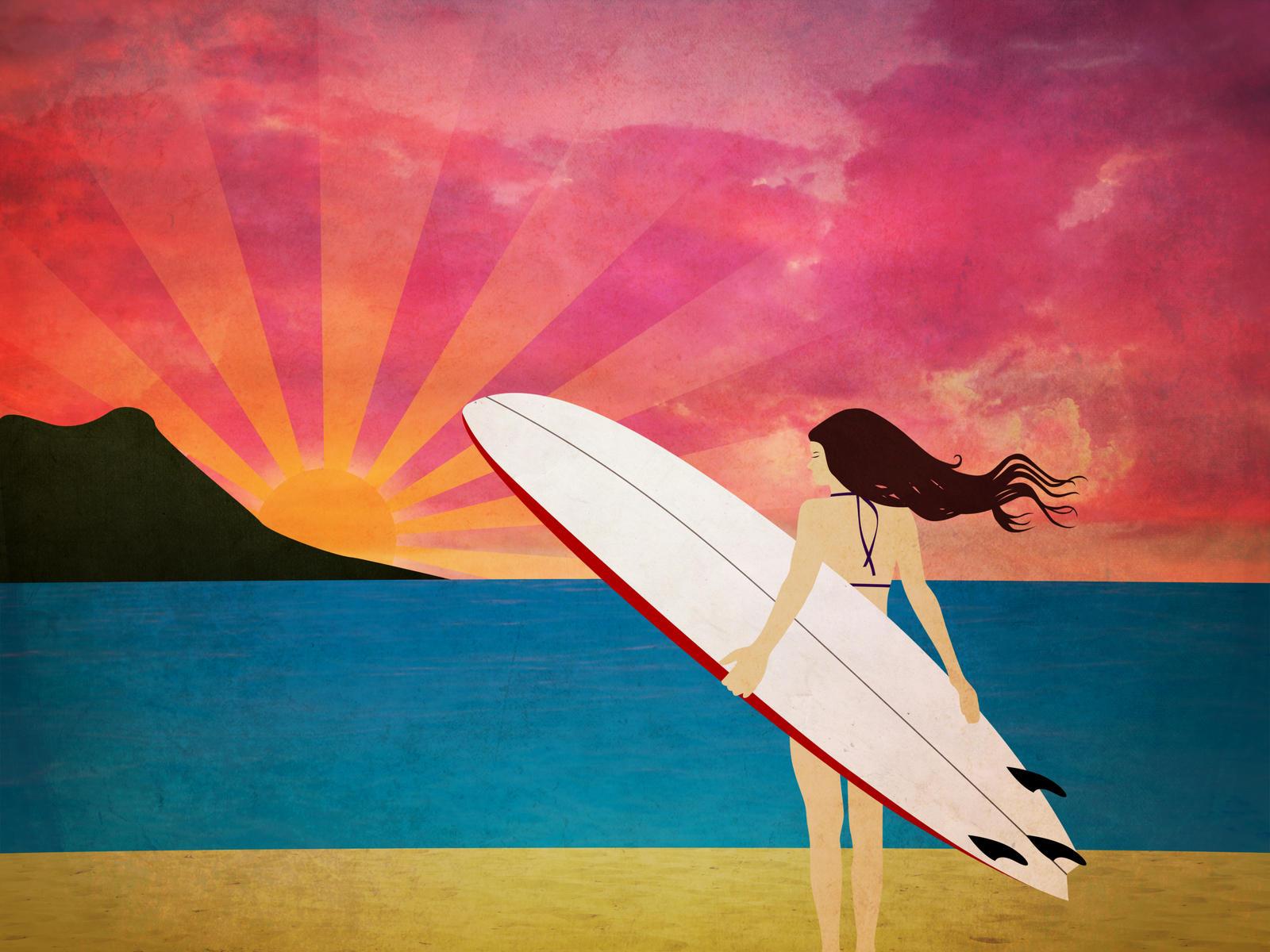 surf girl wallpaper for - photo #31