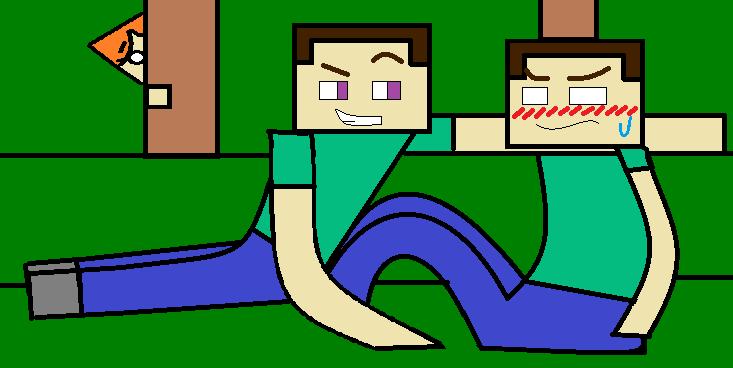 Minecraft Para Colorear Steve: Steve X Herobrine(Minecraft) By SubcorpionJoseph On DeviantArt