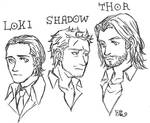 the three sons of Odin