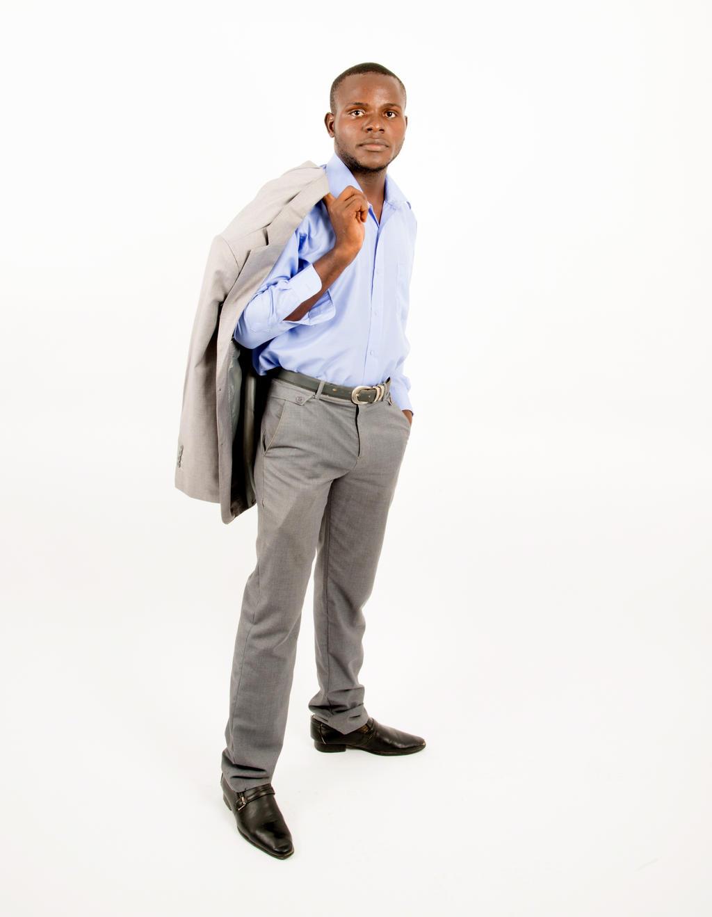 Grey Suit Black Shirt Black Tie White Shoes