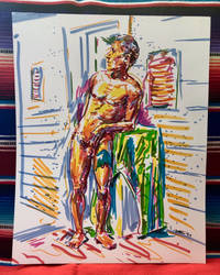 Untitled ink on bristol board 11x14 by Lumi9