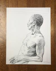 Untitled charcoal pencil on bristol board by Lumi9
